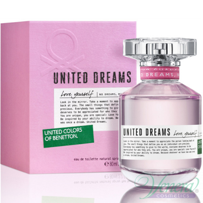 Benetton United Dreams Love Yourself EDT 80ml pentru Femei Women's Fragrance