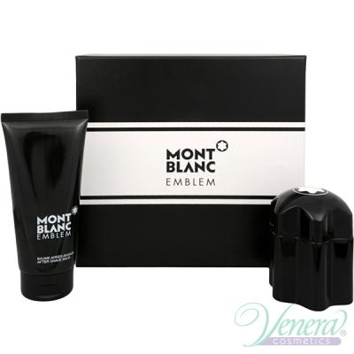 Mont Blanc Emblem Set (EDT 60ml + AS Balm 100ml) for Men Sets