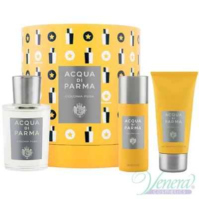 Acqua di Parma Colonia Pura Set (EDC 100ml + SG 75ml + Deo Spray 50ml) pentru Bărbați și Femei Unisex Gift sets