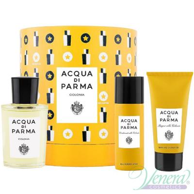 Acqua di Parma Colonia Set (EDC 100ml + SG 75ml + Deo Spray 50ml) pentru Bărbați și Femei Seturi