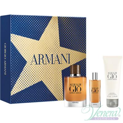 Armani Acqua Di Gio Absolu Set (EDP 75ml +EDP 15ml + SG 75ml) pentru Bărbați