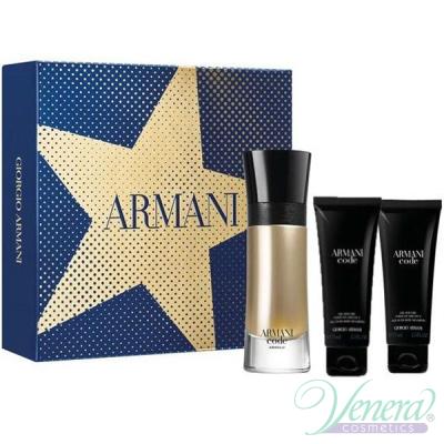 Armani Code Absolu Set (EDP 60ml + AS Balm 75ml + SG 75ml) pentru Bărbații Seturi