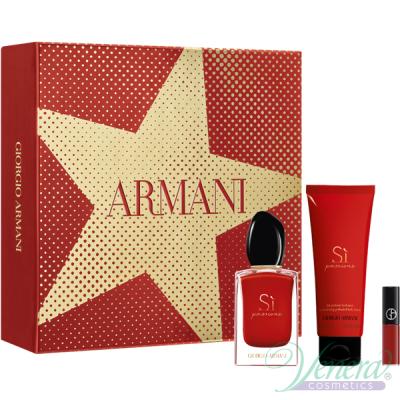 Armani Si Passione Set (EDP 50ml + BL 75ml + Lip Maestro 400 1.5ml) pentru Femei Seturi