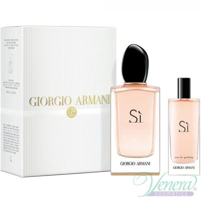 Armani Si Set (EDP 100ml + EDP 15ml)  pentru Femei Women's Gift Sets
