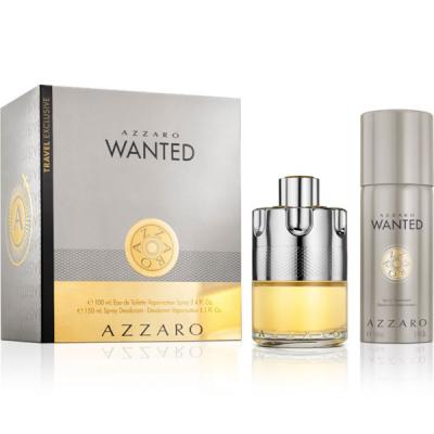 Azzaro Wanted Set (EDT 100ml + Deo Spray 150ml) pentru Bărbați Seturi