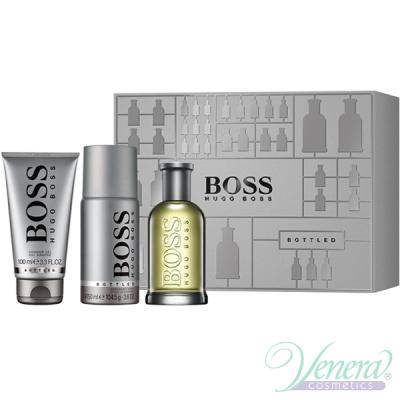 Boss Bottled Set (EDT 100ml + Deo Spray 150ml + SG 100ml) pentru Bărbați Men's Gift Sets