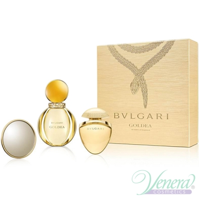 Bvlgari Goldea Set (EDP 50ml + EDP 25ml Jewel Charm + Mirror) pentru Femei Seturi Cadou