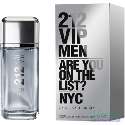 Carolina Herrera 212 VIP Men EDT 200ml pentru Bărbați Men's Fragrance