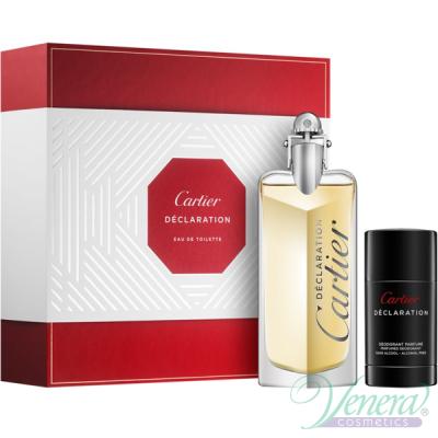 Cartier Declaration Set (EDT 100ml + Deo Stick 75ml) pentru Bărbați