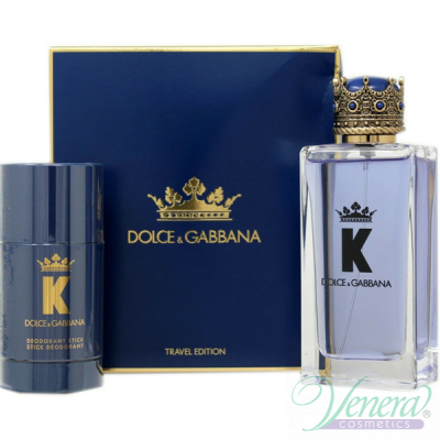 Dolce&Gabbana K by Dolce&Gabbana Set (EDT 100ml + Deo Stick 75ml) pentru Bărbați