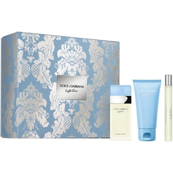 Dolce&Gabbana Light Blue Set (EDT 50ml + Body Cream 50ml + EDT 10ml) pentru Femei
