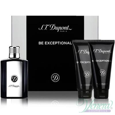 S.T. Dupont Be Exceptional Set (EDT 100ml + AS Balm 100ml + SG 100ml) pentru Bărbați Seturi