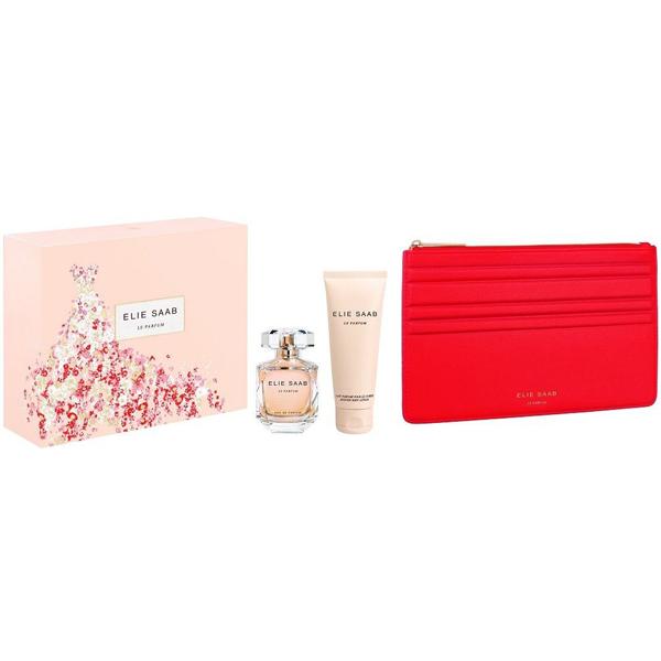 Elie Saab Le Parfum Set (EDP 50ml + Body Lotion 75ml + Bag) pentru Femei