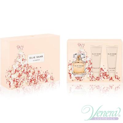 Elie Saab Le Parfum Set (EDP 90ml + BL 75ml + SG 75ml) pentru Femei Sets