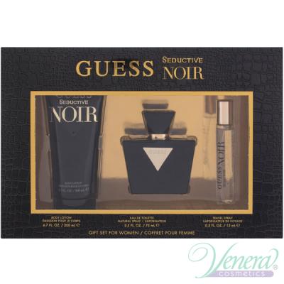 Guess Seductive Noir Set (EDT 75ml + EDT 15ml + BL 200ml) pentru Femei