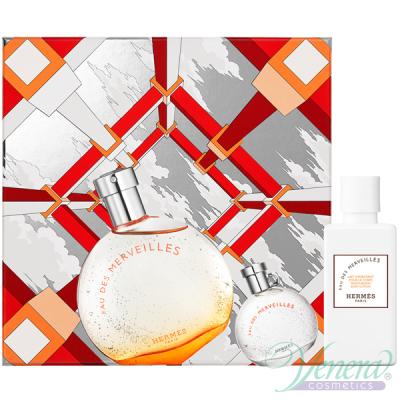 Hermes Eau Des Merveilles Set (EDT 50ml + EDT 7.5ml + BL 40ml) pentru Femei