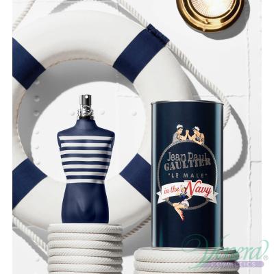 Jean Paul Gaultier Le Male In The Navy Set (EDT 125ml + EDT 10ml) pentru Bărbați Seturi