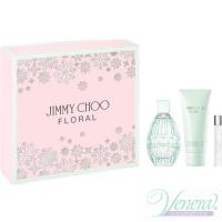 Jimmy Choo Floral Set (EDT 90ml + BL 100ml + EDT 7.5ml) pentru Femei Seturi
