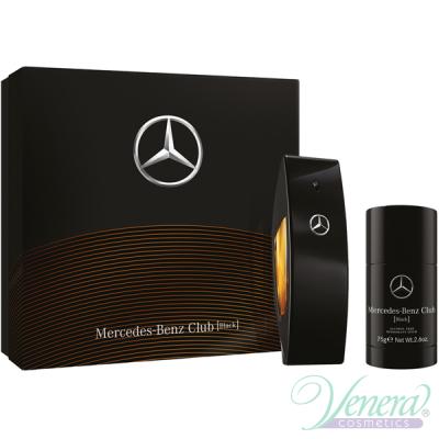 Mercedes-Benz Club Black Set (EDT 100ml + Deo Stick 75ml) pentru Bărbați