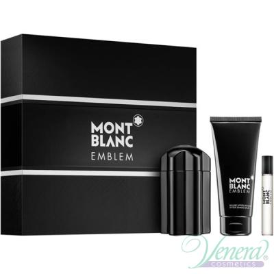 Mont Blanc Emblem Set (EDT 100ml + AS Balm 100ml + EDT 7.5ml) για άνδρες Ανδρικά Σετ
