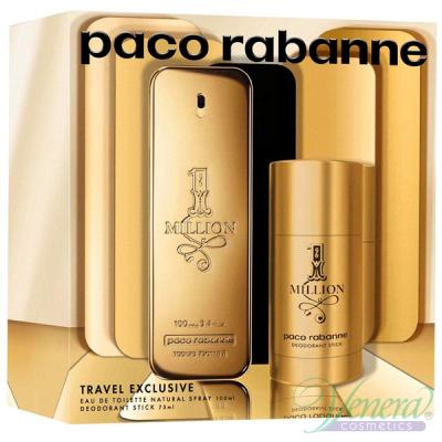 Paco Rabanne 1 Million Set (EDT 100ml + Deo Stick 75ml) pentru Bărbați