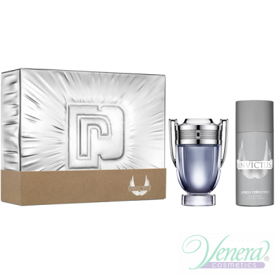 Paco Rabanne Invictus Set (EDT 100ml + Deo Spray 150ml) pentru Bărbați