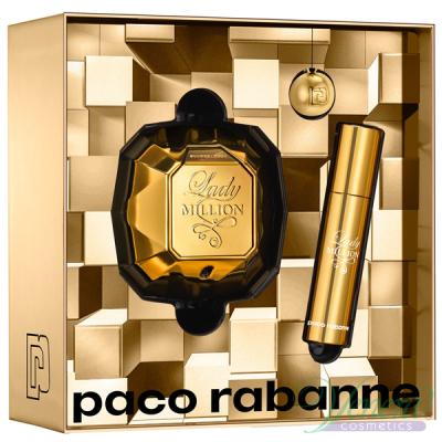 Paco Rabanne Lady Million Set (EDP 50ml + EDP 10ml + Key Ring) pentru Femei
