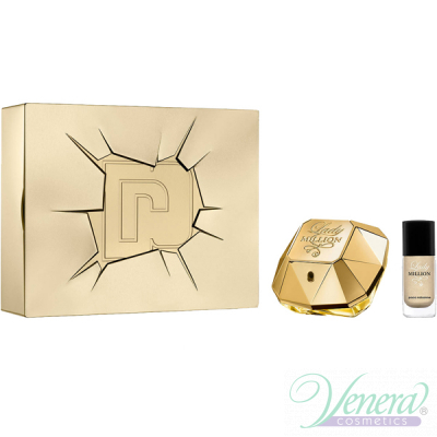 Paco Rabanne Lady Million Set (EDP 50ml + Nail Polish 9ml) pentru Femei