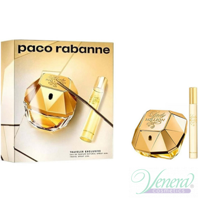 Paco Rabanne Lady Million Set (EDP 80ml + EDP 20ml) pentru Femei