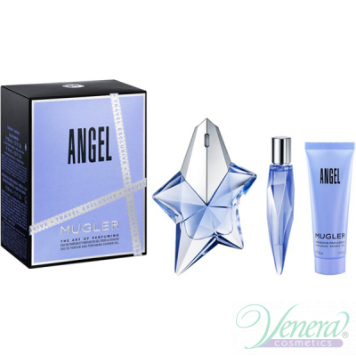 Thierry Mugler Angel Set (EDP 50ml + EDP 10ml + SG 50ml) pentru Femei Seturi