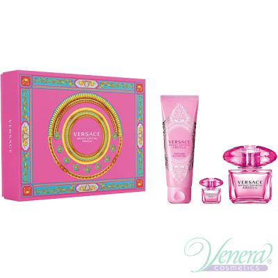 Versace Bright Crystal Absolu Set (EDP 90ml + EDP mini 5ml + SG 150ml) pentru Femei Seturi