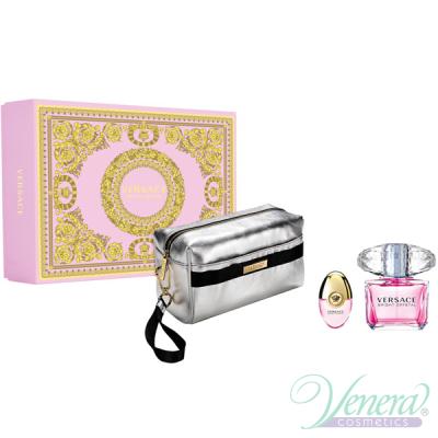 Versace Bright Crystal Set (EDT 90ml + EDT 10ml + Bag) pentru Femei Seturi