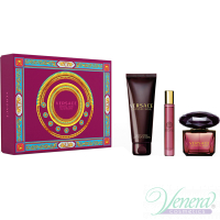 Versace Crystal Noir Set (EDT 90ml + EDT 10ml + BL 150ml) for Women Women's Gift sets