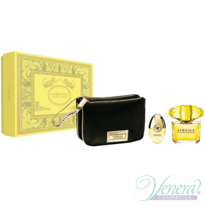 Versace Yellow Diamond Set (EDT 90ml + EDT 10ml + Bag) pentru Femei