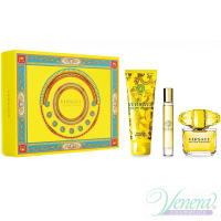 Versace Yellow Diamond Set (EDT 90ml + EDT 10ml + BL 150ml) for Women Women's Gift Sets