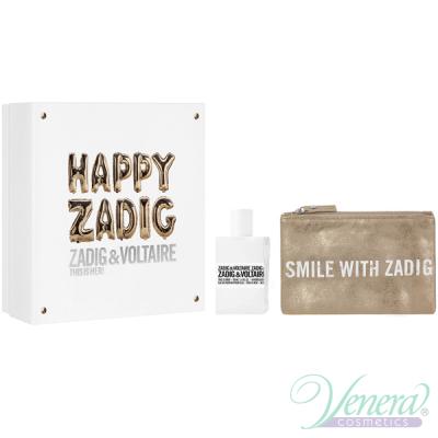 Zadig & Voltaire This is Her Set (EDP 50ml + Pouch) Happy Zadig! pentru Femei