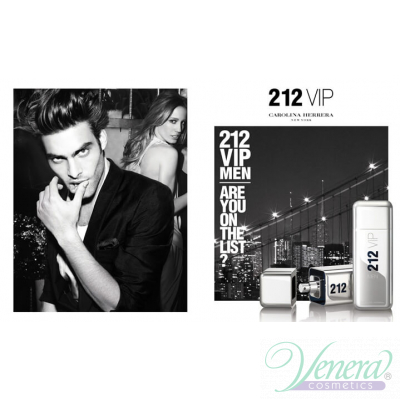 Carolina Herrera 212 VIP Men Set (EDT 100ml + Shower Gel 100ml) pentru Bărbați Seturi