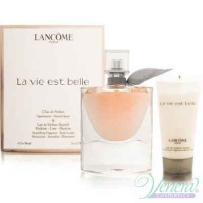 Lancome La Vie Est Belle Set (EDP 50ml + Body Lotion 50ml) pentru Femei