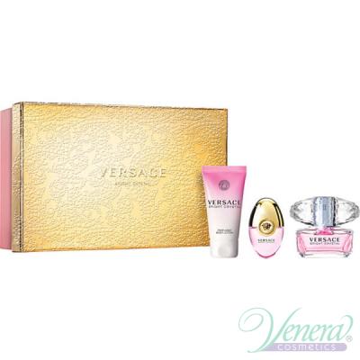 Versace Bright Crystal Set (EDT 50ml + EDT 10ml + BL 50ml) pentru Femei Seturi