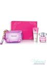 Versace Bright Crystal Set (EDT 90ml + BL 100ml + Bag) pentru Femei Seturi
